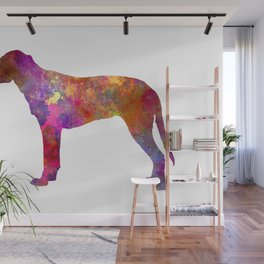 Finnish Hound dog in watercolor Wall Mural