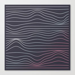 Wave lines Canvas Print