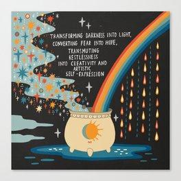 Transforming darkness into light Canvas Print