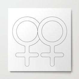 Gay Couple Love Metal Print