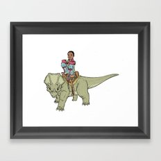 A Boy and his Dinosaur Framed Art Print