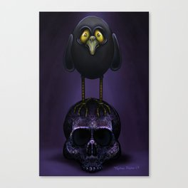A Little Raven Told Me by Topher Adam 2017 Canvas Print