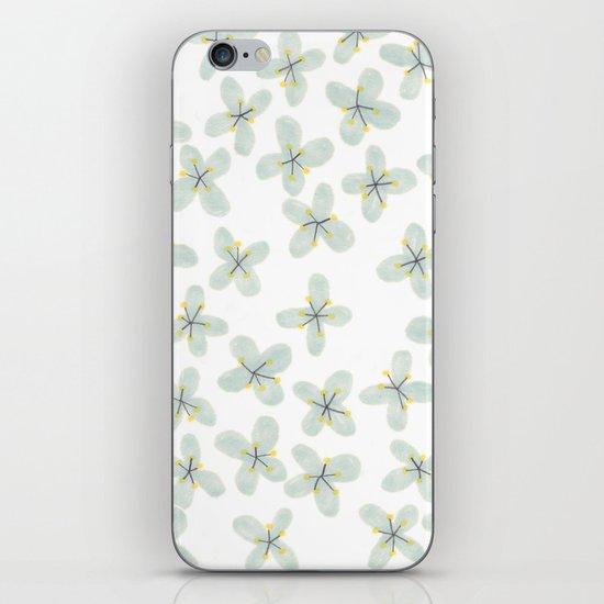 Blue Cherry Blossom iPhone & iPod Skin