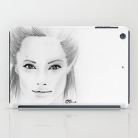 angelina jolie iPad Cases featuring Angelina Jolie by Paint the Moment