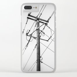Electric Pole Clear iPhone Case