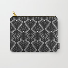 """Art Deco . Black and white pattern .""""Constance """". Carry-All Pouch"""