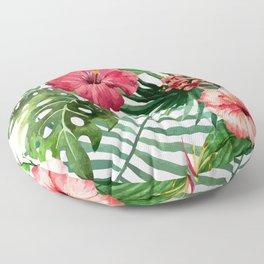 FLOWERS WATERCOLOR 8 Floor Pillow