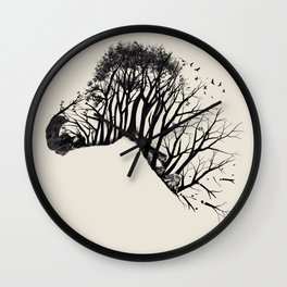 Wild Zebra Wall Clock