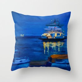 Last Ferry Home Throw Pillow