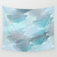 waterfall Wall Tapestries featuring Waterfall by Zen and Chic