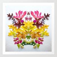 Botanical Crest 1 Art Print