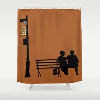 manhattan Shower Curtains featuring Manhattan by FilmsQuiz