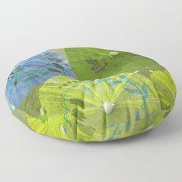 Parasols Blueberry Lime Floor Pillow