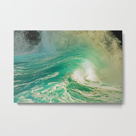 WAVE JOY Metal Print