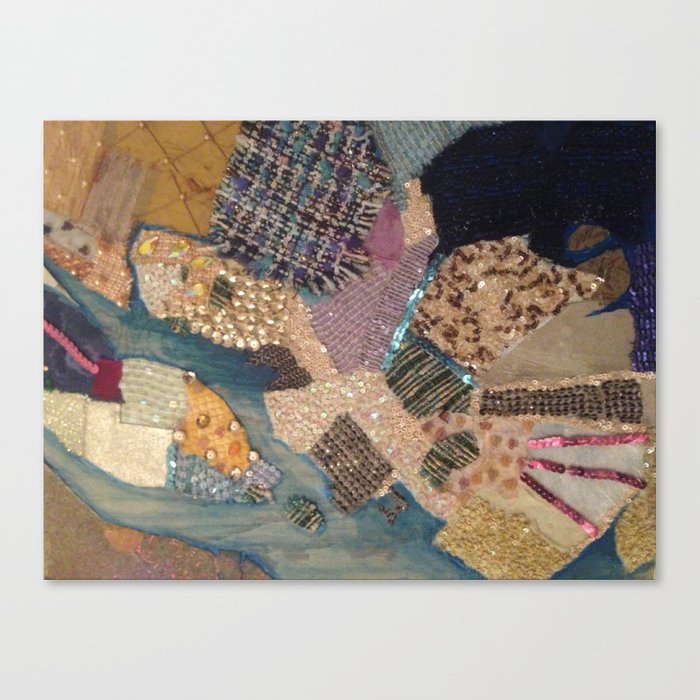 A Patchwork of colour Canvas Print