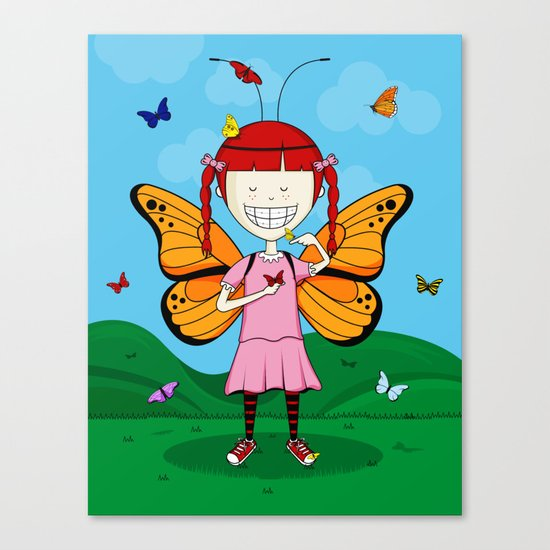 i heart butterflies Canvas Print