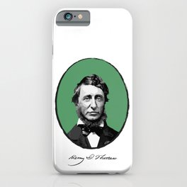 Authors - Henry David Thoreau iPhone Case