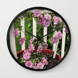 Clematis Josephine Wall Clock