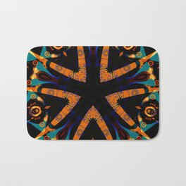 Tribal Geometric Bath Mat