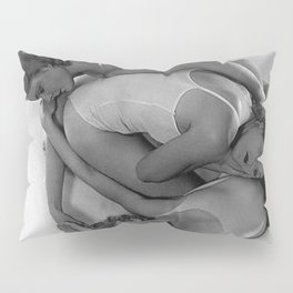 Rhythmic Pose, Human Art, Three Female Figures by Madame d'Ora black and white photograph  Pillow Sham