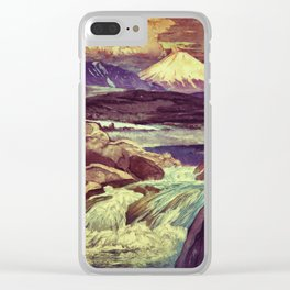 The Rising Fall Clear iPhone Case