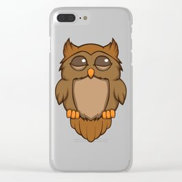 Cute sleeping owl Clear iPhone Case