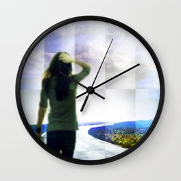 A Te Wall Clock