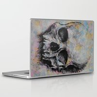 medieval Laptop & iPad Skins featuring Medieval Skull by Michael Creese