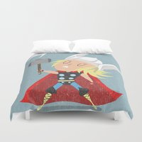 thor Duvet Covers featuring Thor by Rod Perich