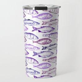 Purple Fish Travel Mug
