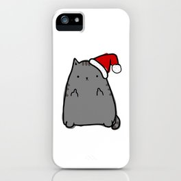 Christmas Cat Double Bird iPhone Case