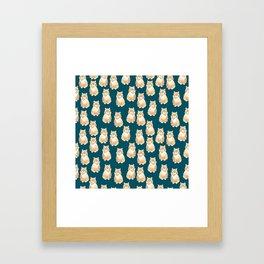 BJ Pattern Framed Art Print