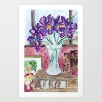 Books,Flowers and Matisse Art Print