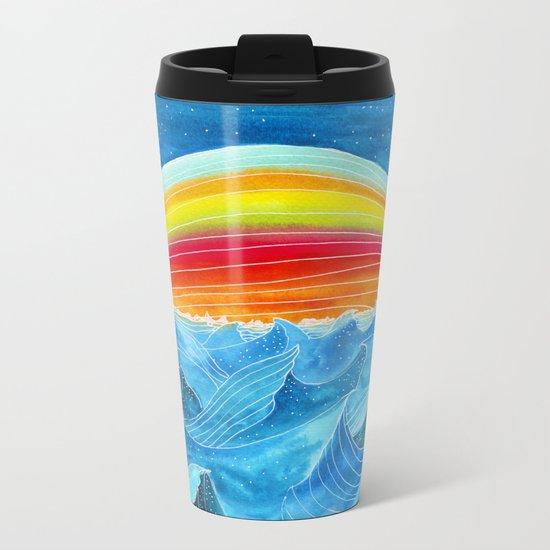 Rainbow Mountain Metal Travel Mug