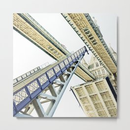 Tower Bridge 02A - Going Up Metal Print