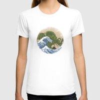 hokusai T-shirts featuring Hokusai Cthulhu by Marco Mottura - Mdk7