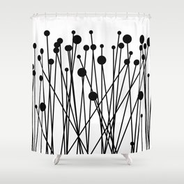 Horizontal Pinheads II Shower Curtain