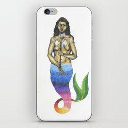 bearded mermaid iPhone Skin