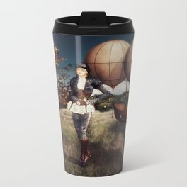 Flight of Fancy (Steampunk) Metal Travel Mug