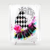 clown Shower Curtains featuring Clown by by_dinahartandi