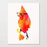 carpe Canvas Prints featuring Punk bird by Robert Farkas