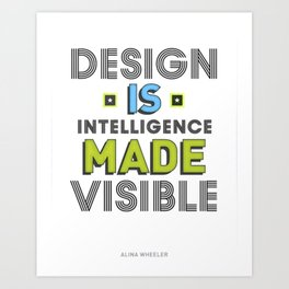 Visible Design Art Print