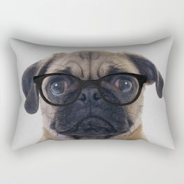 Geek Pug Rectangular Pillow