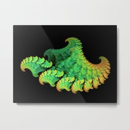 All the Copper Waves Metal Print