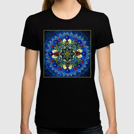 Lighted Rose Window Collage T-shirt