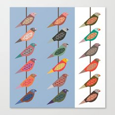 Fun Finches Canvas Print