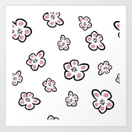 Plum Seamless Pattern Art Print