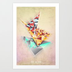 Triangle Rush! Art Print