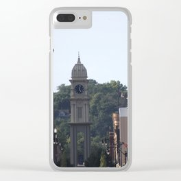 Downtown Dubuque Clear iPhone Case