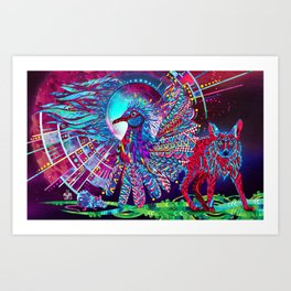 The Wolf and the Bird Art Print